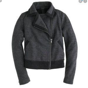 J. Crew Wool Unlined Moto Zip Up Jacket.
